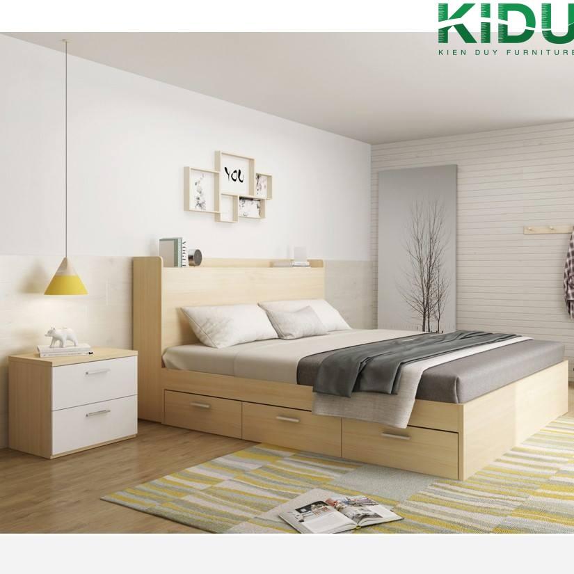 Giường ngủ có thiết kế đơn giản