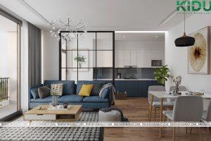 Thiết kế nội thất căn hộ 2 phòng ngủ TMS Quy Nhơn