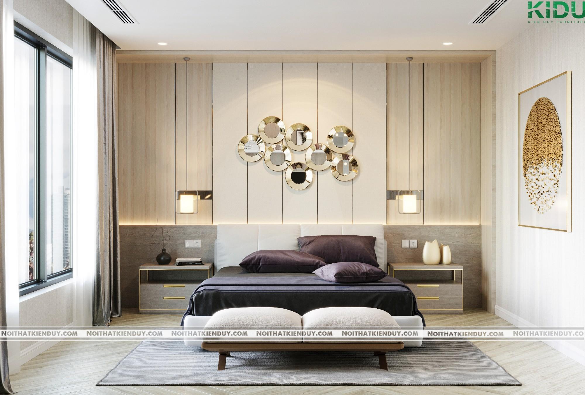 Thiết kế nội thất phòng ngủ master biệt thự Khu Bình Hà – chị Thảo