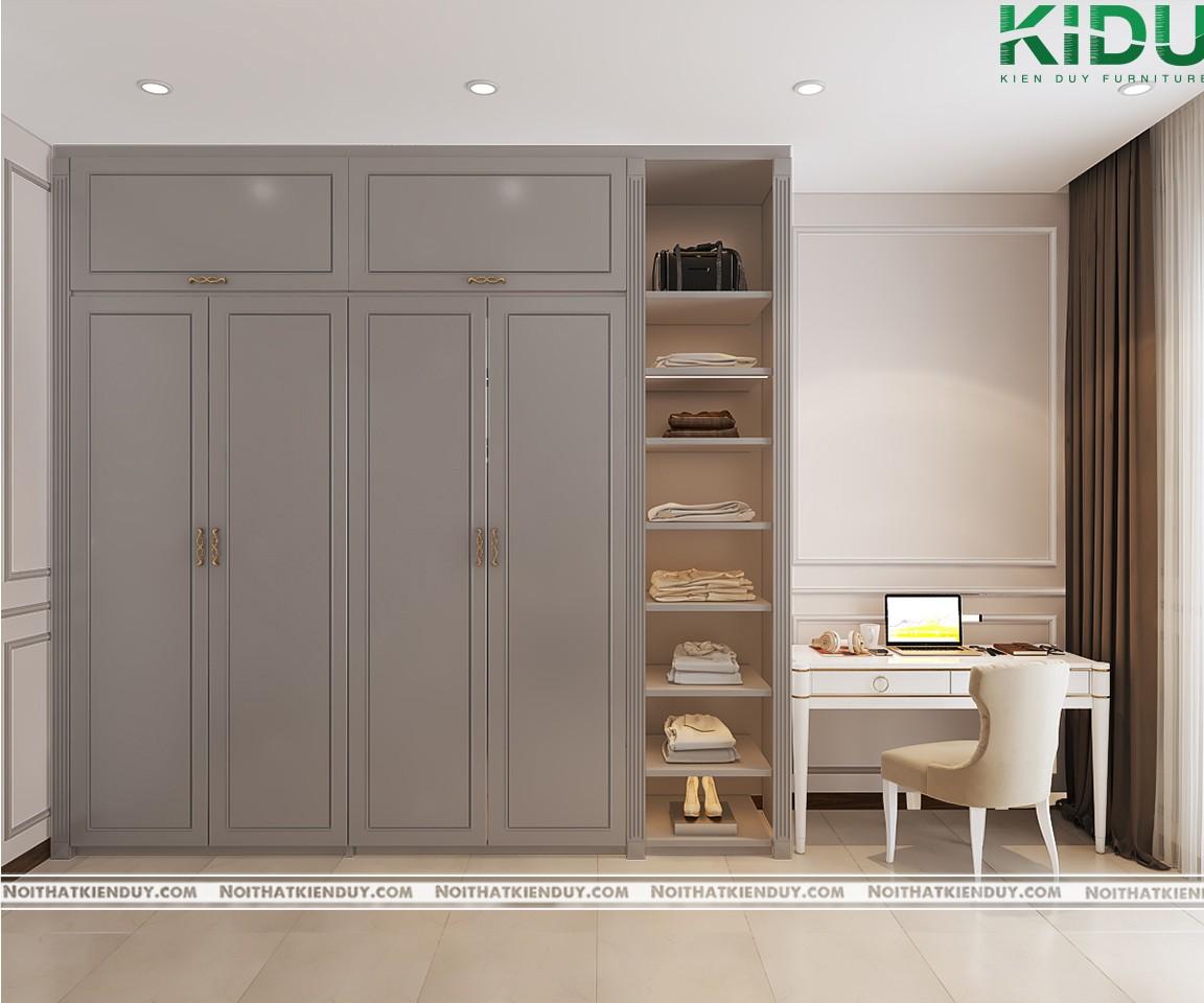 Tủ quần áo với thiết kế đơn giản nhưng đầy tiện ích