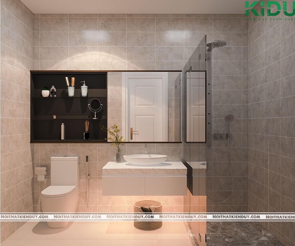 Không gian phòng tắm tiện lợi