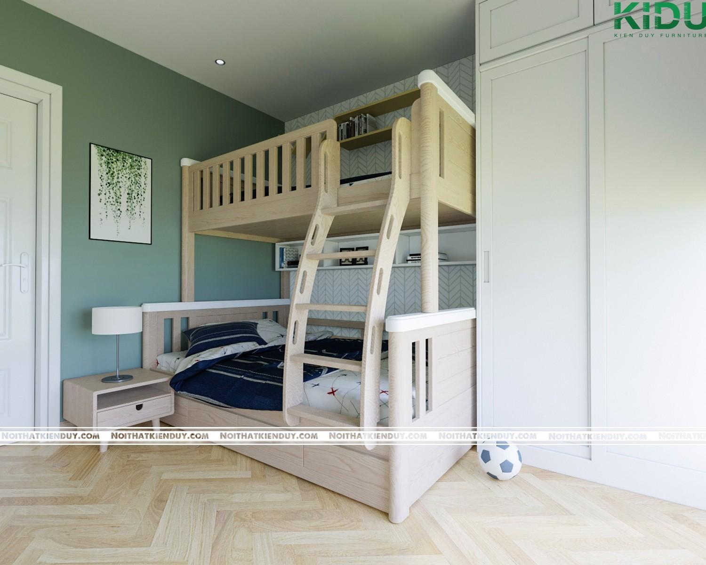 Giường gỗ 2 tằng xinh xắn