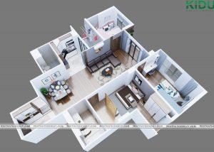 Thiết kế nội thất căn hộ FLC Seatower Quy Nhơn – anh Thành
