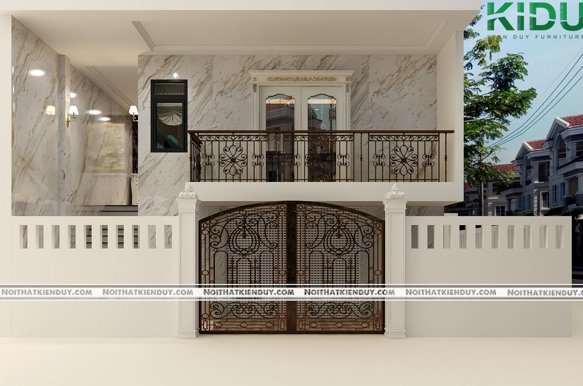 Phong cách thiết kế sang trọng từ bên ngoài căn nhà