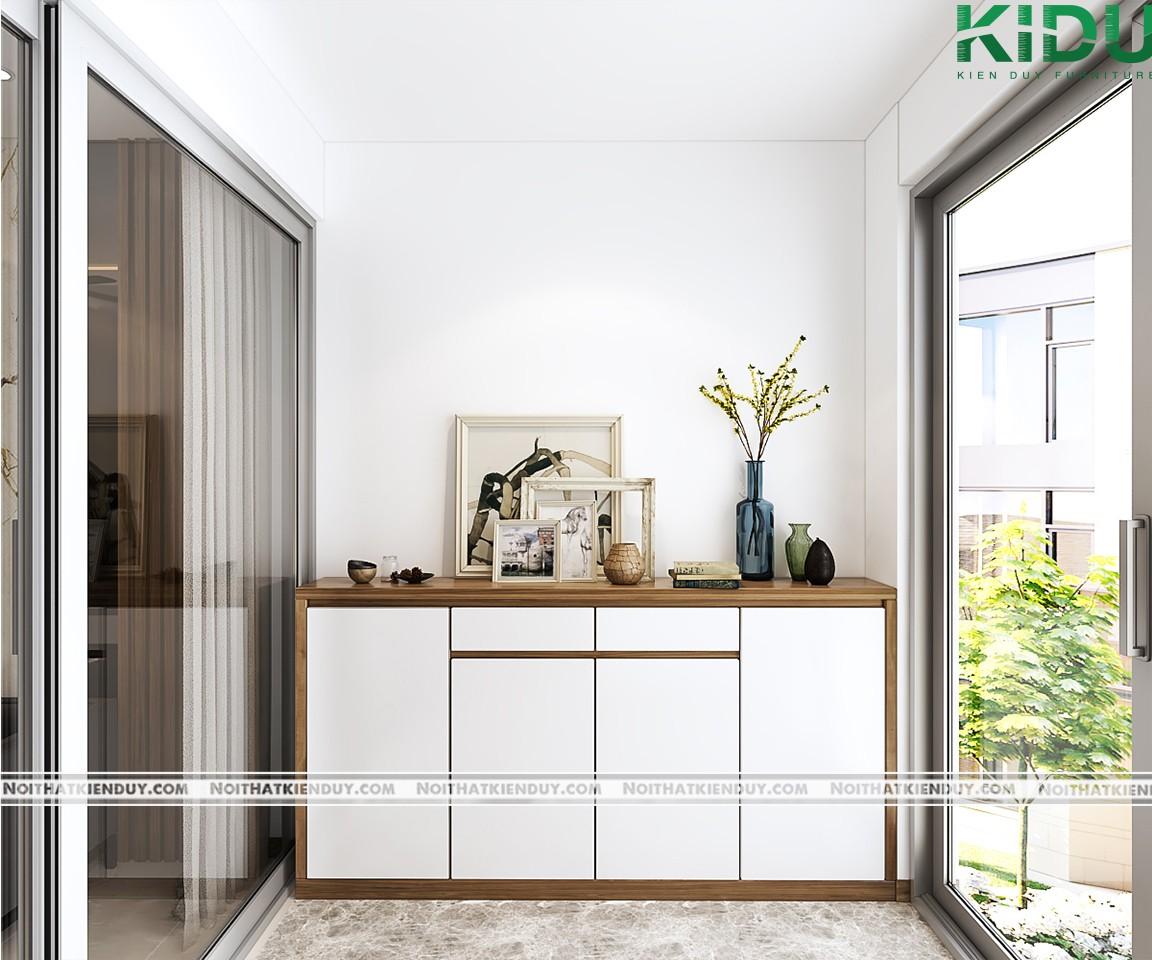 Sử dụng tủ giày như kệ trang trí giúp ngôi nhà xinh xắn hơn