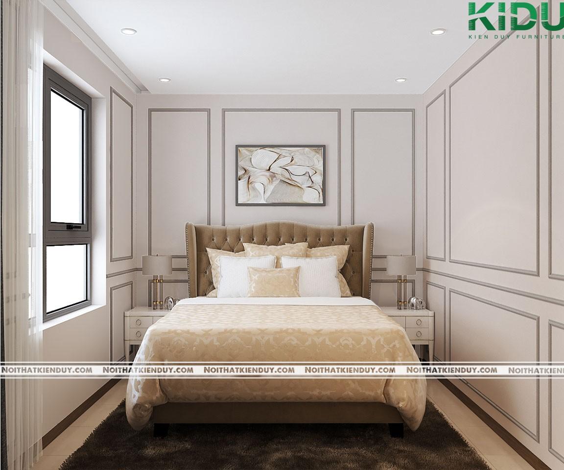 Giường ngủ bọc nỉ simili cao cấp mang lại cảm giác mềm mại