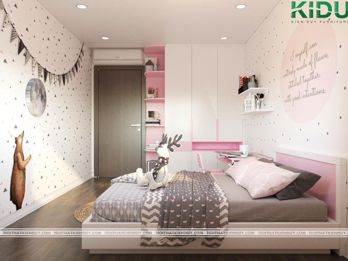 Phòng ngủ con gái được thiết kế mơ mộng