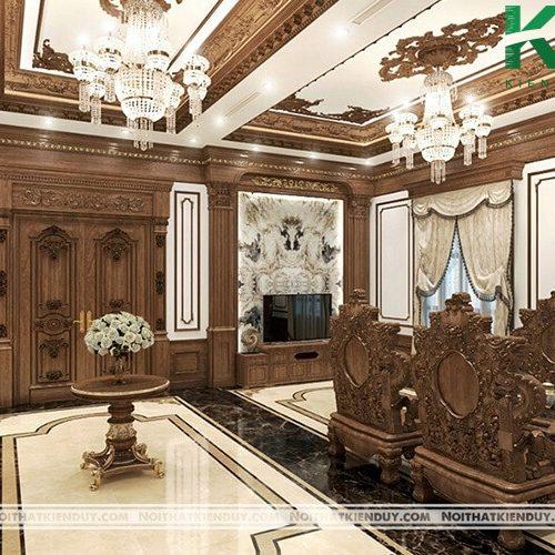 Mẫu thiết kế nội thất phòng khách đẹp 8