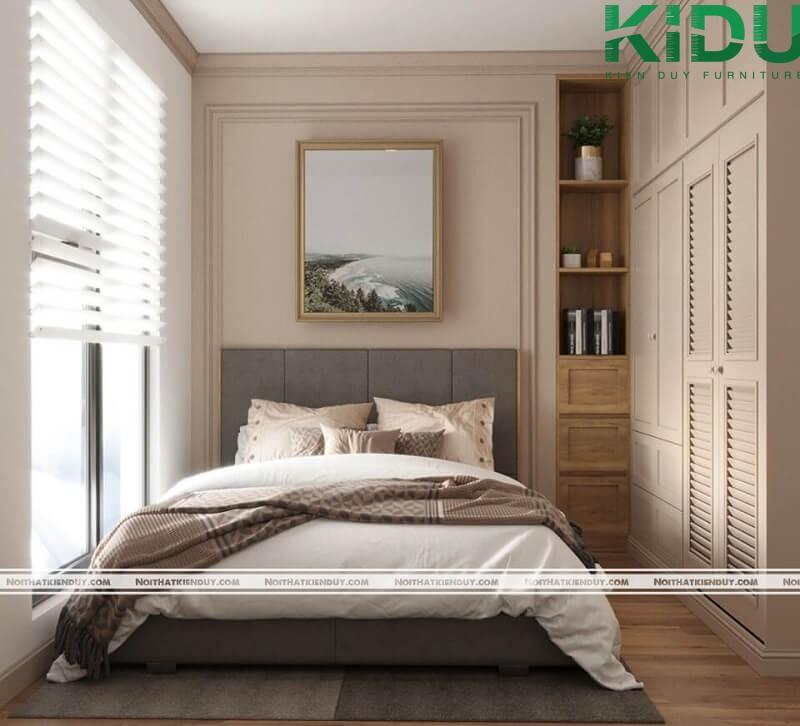Phòng ngủ đẹp cho căn hộ do Kiến Duy thi công và thiết kế