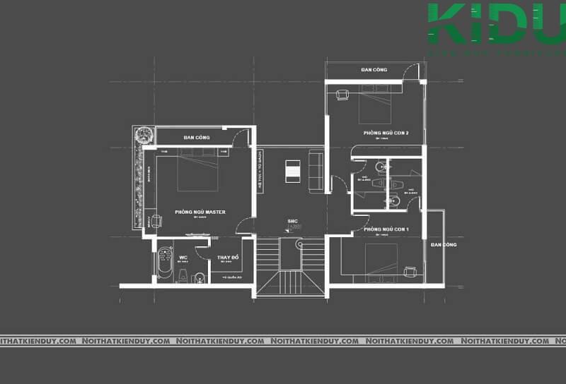 Bản thiết kế nội thất nhà anh Hùng