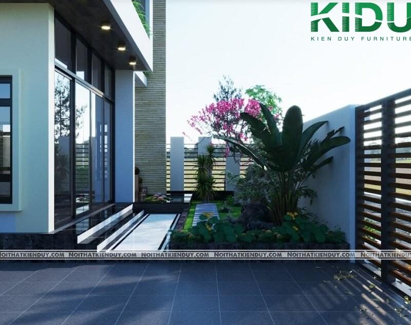 Thiết kế sân vườn tạo không gian xanh cho ngôi nhà