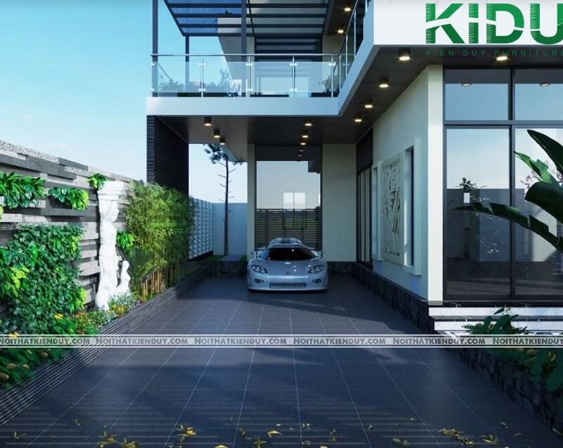 Tận dụng diện tích nhà lớn thiết kế gara ngay tại nhà