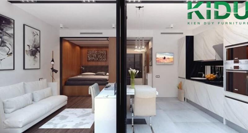 Thiết kế tổng thể ngôi nhà đơn giản và tận dụng mọi góc