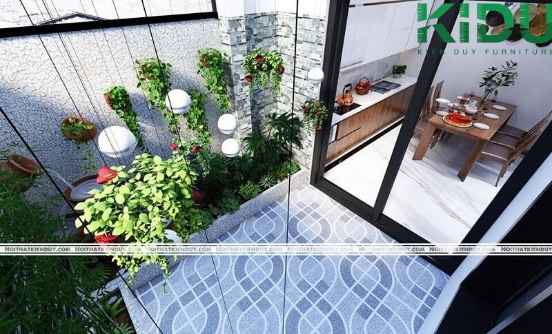 Nhà có giếng trời giúp điều hòa không khí
