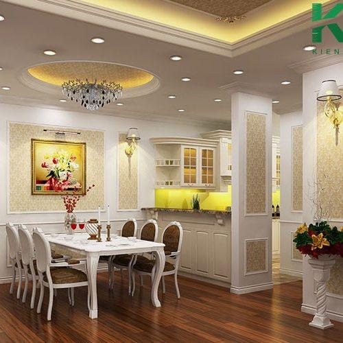 Bố trí phòng bếp theo phong cách cổ điển