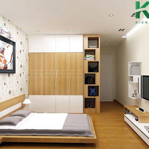Mẫu thiết kế nội thất phòng ngủ không cần giường 8
