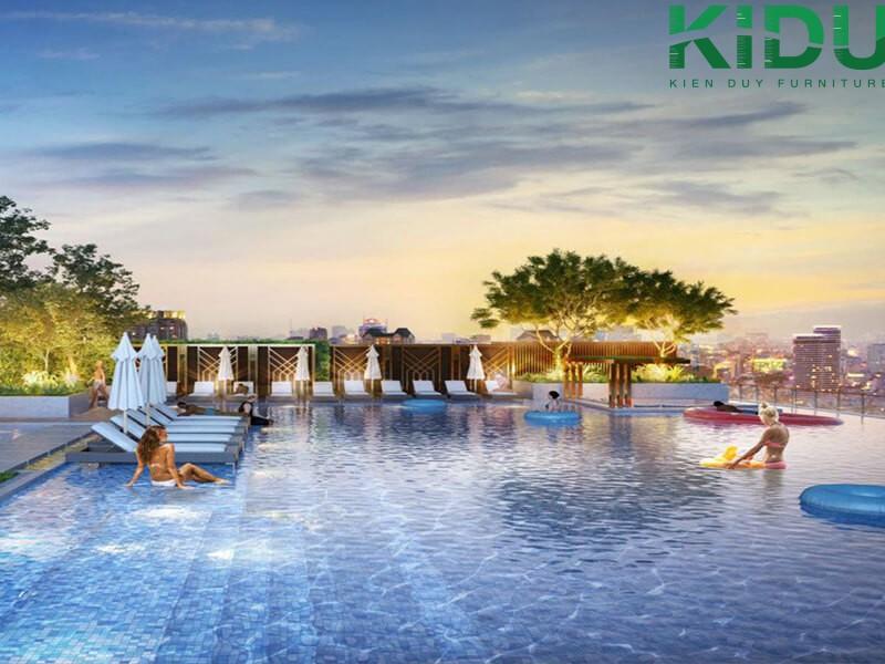 hình ảnh minh họa về thiết kế các hồ bơi cho nhà phố