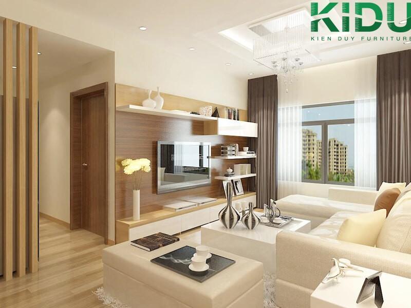 Căn hộ chung cư phong cách hiện đại Châu Âu phù hợp thiết kế nội thất chung cư 1 phòng ngủ