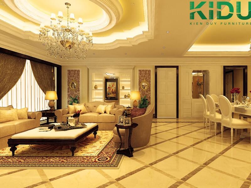 Căn hộ chung cư phong cách cổ điển