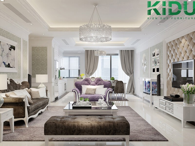 hình ảnh thiết kế căn hộ chung cư hiện đại
