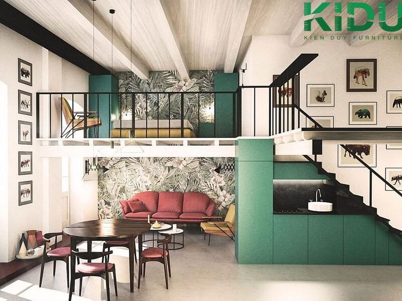 Hình ảnh thiết kế nhà có gác lửng