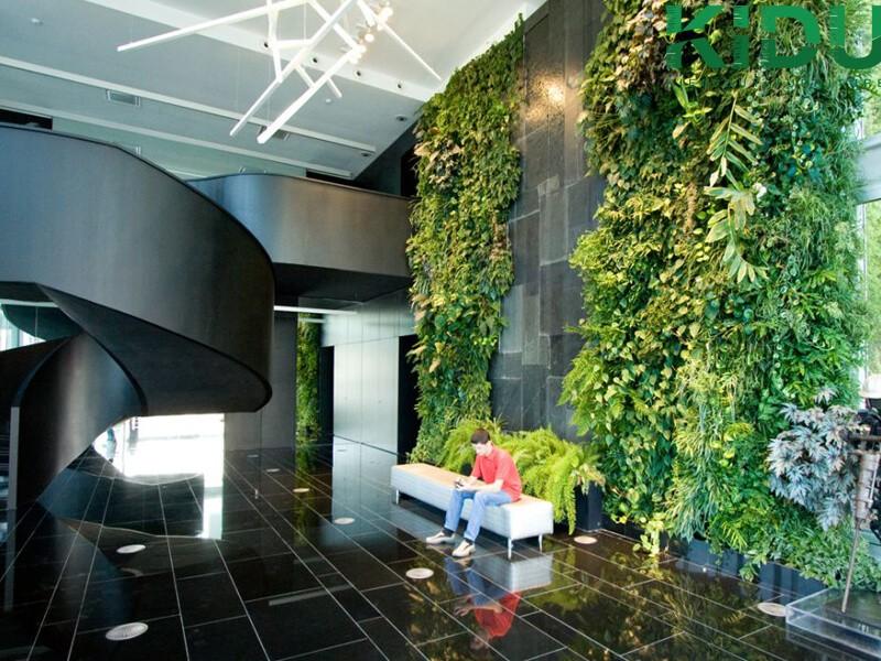 Thiết kế nội thất văn phòng theo mảng màu xanh
