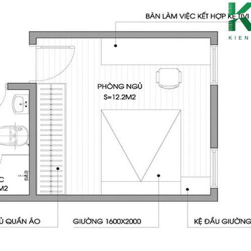 Thiết kế phòng ngủ với diện tích 12m2